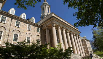 This is an image of the Old Main building at the Penn State University Park campus.